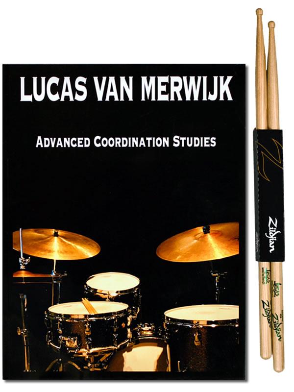 Lucas Van Merwijk Advanced Coordination Studies Book + 1 x Lucas Van Merwijk Zildjian Signature Sticks