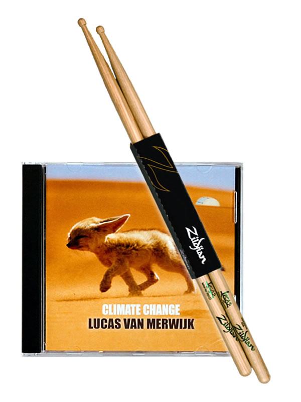 Climate Change CD, + 1x  Lucas Van Merwijk Zildjian Signature Sticks
