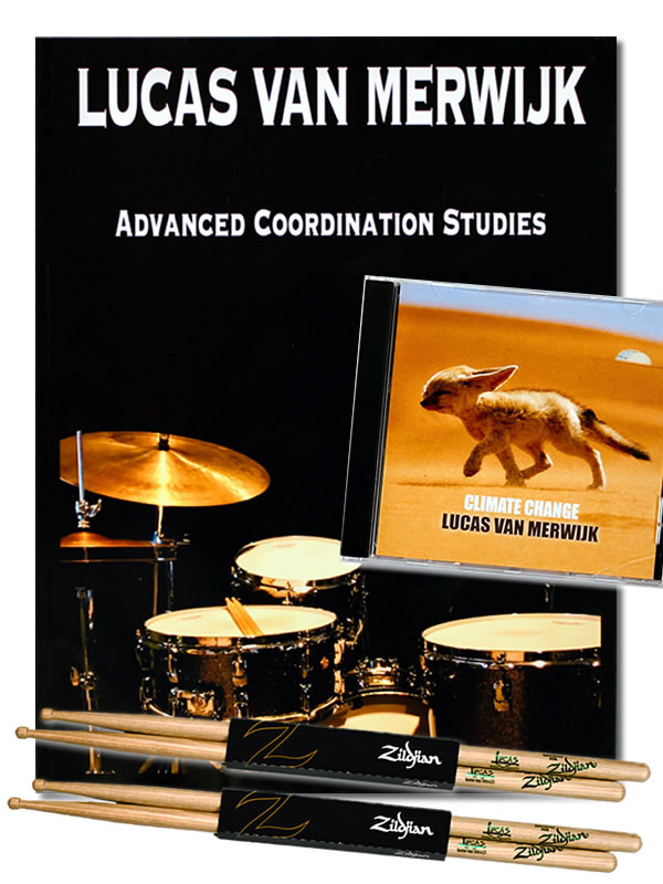 Climate Change CD, Advanced Coordination Studies Book + 2x Zildjian Signature Sticks